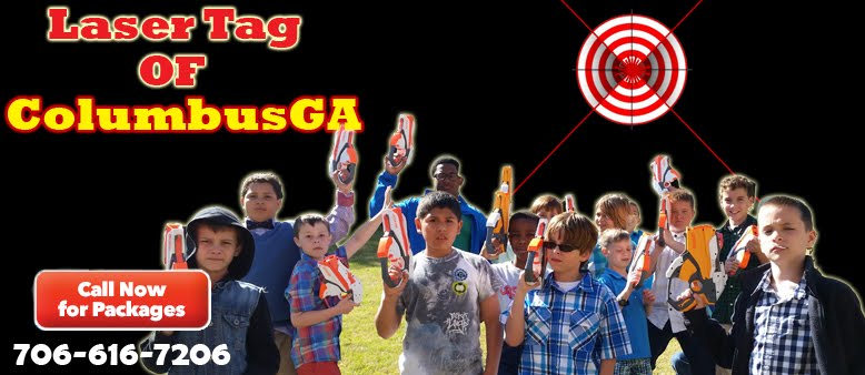 Laser tag rental in Columbus and Phenix City.